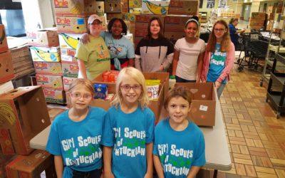 Girl Scouts volunteer