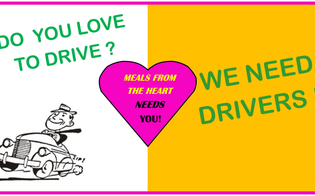 Volunteer as a driver for Meals from the Heart